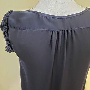 Zara Dresses - ZARA BASIC Shift Dress, Dark Blue Silky Career, XS
